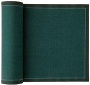 English Green Cotton Luncheon Napkin Wholesale (10 Rolls)