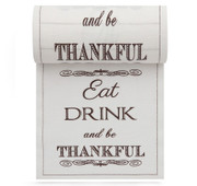 Eat Drink Be Thankful Linen Printed Cocktail Napkin - 50 Units Per Roll