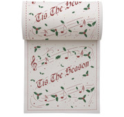 Tis The Season Linen Printed Cocktail Napkin Wholesale (10 Rolls)