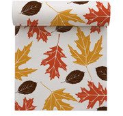Fall Leaves Linen Printed Luncheon Napkin Wholesale (10 Rolls)