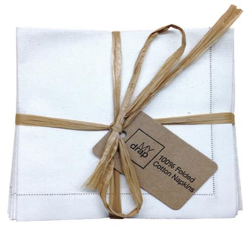 Ecru Cotton Folded Napkin - 20 Units Per Pack