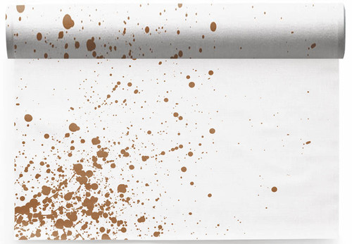 Golden Splash  Linen Printed Placemat - 6 Units Per Roll