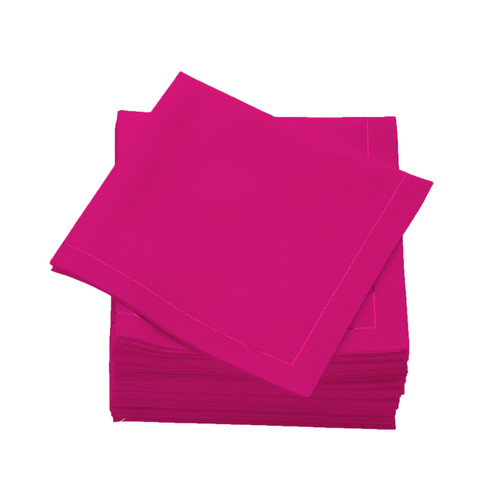Fuchsia  Cotton Folded  Cocktail Napkins -  600 units per case