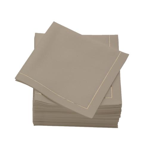 Sand  Cotton Folded  Cocktail Napkins -  600 units per case