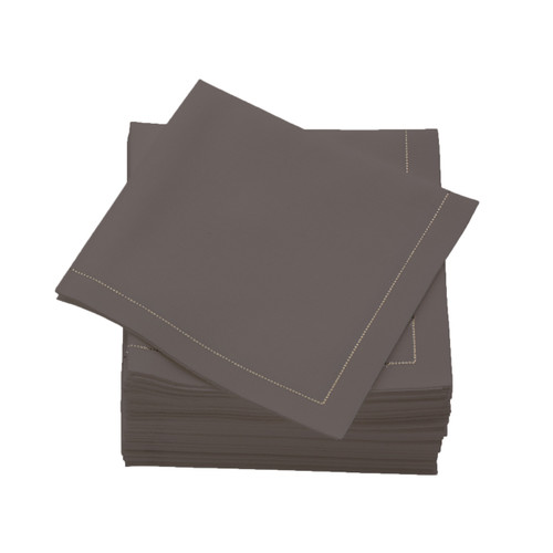 Grey  Cotton Folded  Cocktail  Napkins -  600 units per case