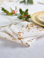 Golden Splash  Linen Printed Luncheon Napkin - 12 Units Per Roll