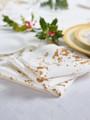Golden Splash  Linen Printed Dinner Napkin - 6 Units Per Roll