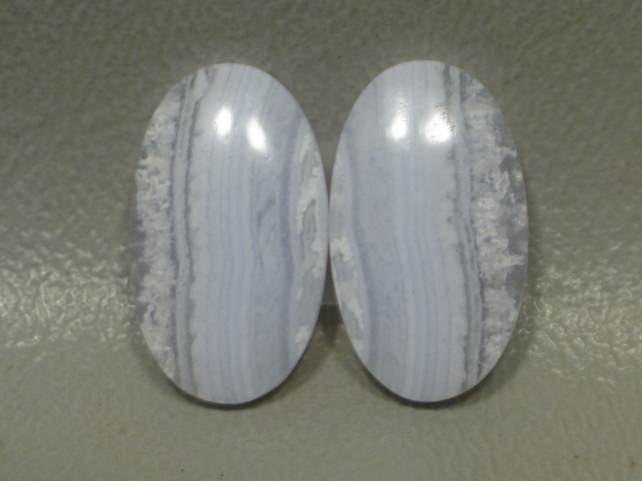 Blue Lace Agate Matched Pair Cabochons #16
