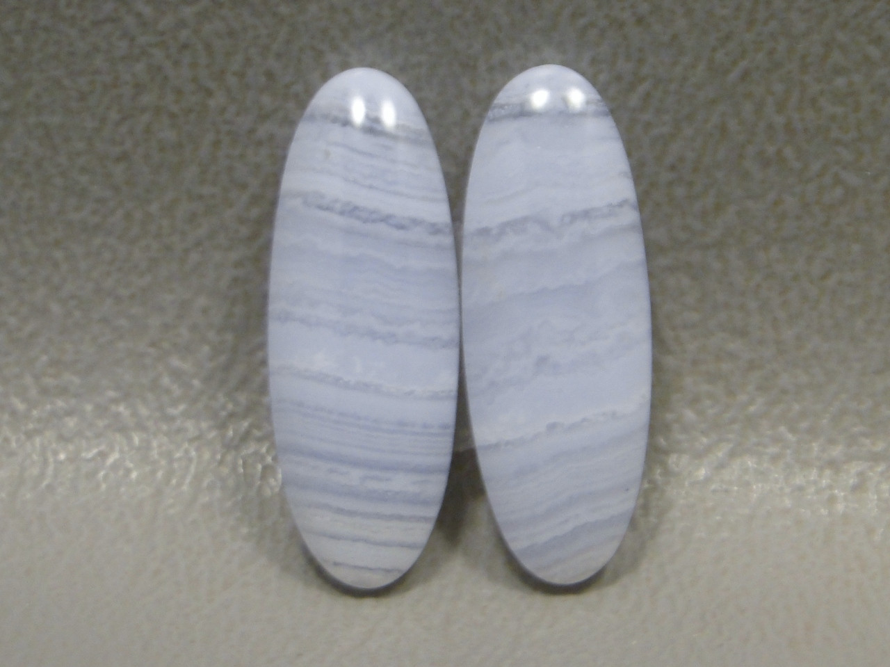Gemstone Cabochons Blue Lace Agate Matched Pair #4