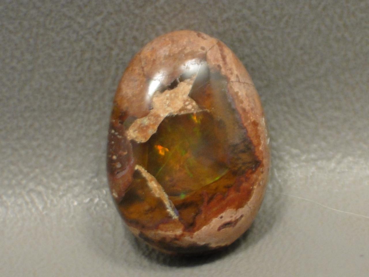 Iridescent Mexican Fire Opal Cabochon Semi Precious Gemstone #22