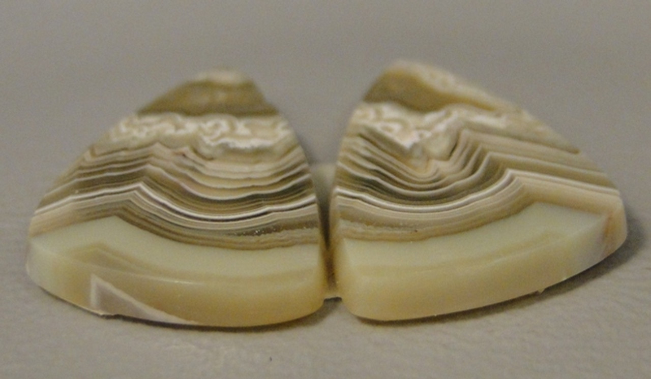Crazy Lace Agate Matched Pair Cabochons #2