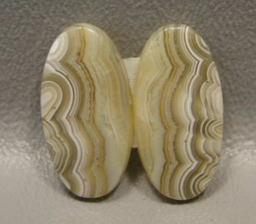 Crazy Lace Agate Matched Pair Cabochons #3