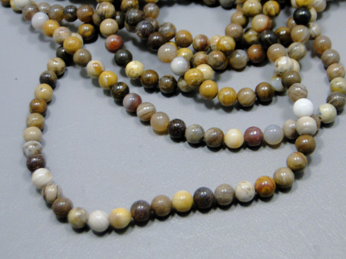 Petrified Wood Beads Unstrung Gemstone Strand (PWb)