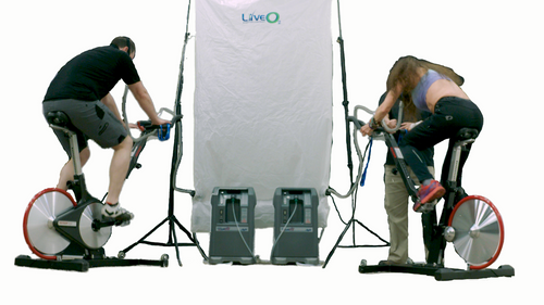 LiveO2 Dual User System 20L in use