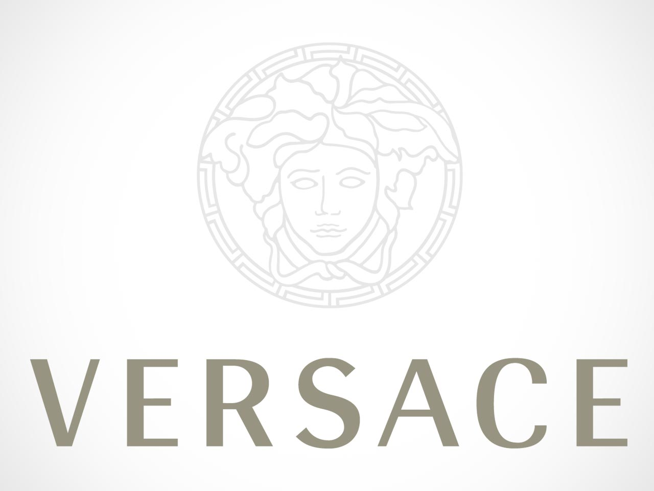 Versace Logo on white background.