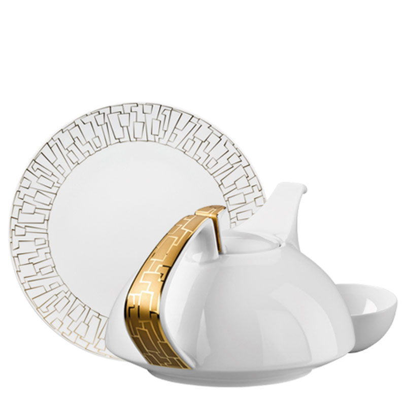 TAC 02 SKIN GOLD DINNERWARE  sc 1 st  Rosenthal : gold and white dinnerware - pezcame.com