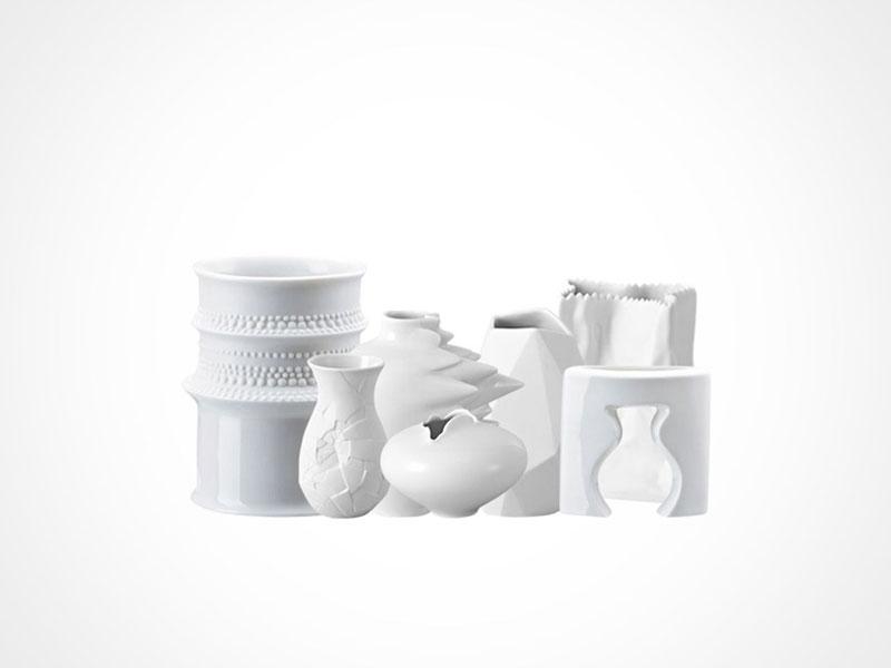 Rosenthal Mini Vases on white background