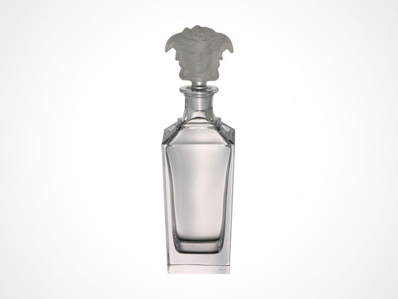 Versace Treasury decanter on white background.