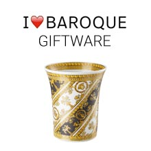 Versace I Love Baroque vase with logo above