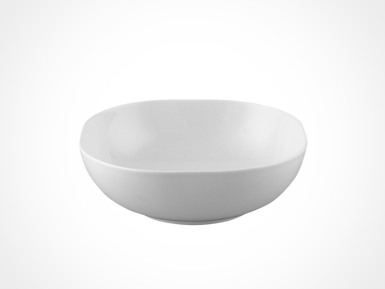 Rosenthal Moon White cereal bowl on white background.
