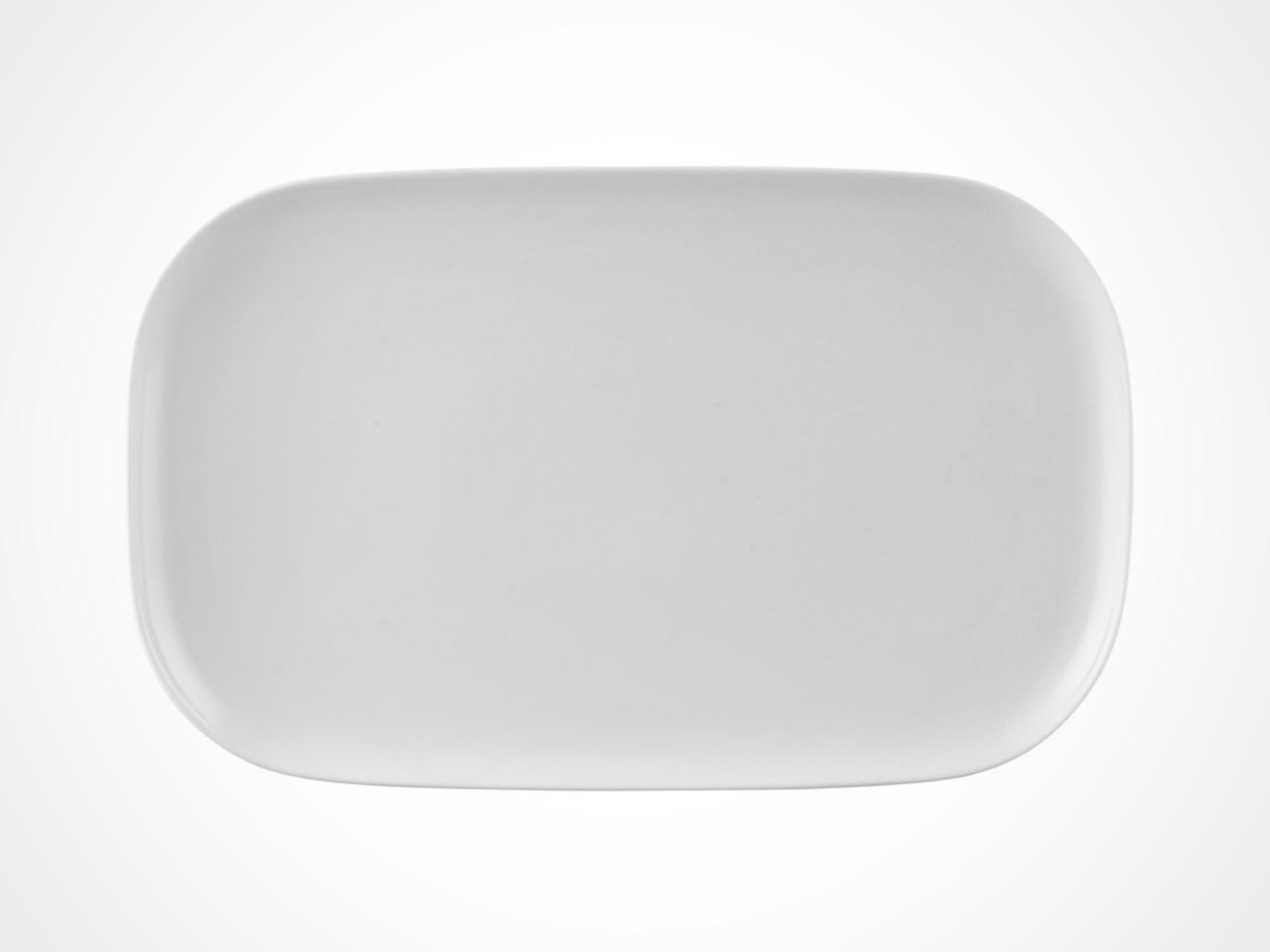 Rosenthal Moon White serving platter on white background.