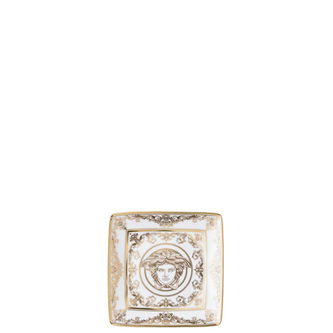 Canape dish square 4 3 4 inch medusa gala rosenthal shop - Canape versace ...
