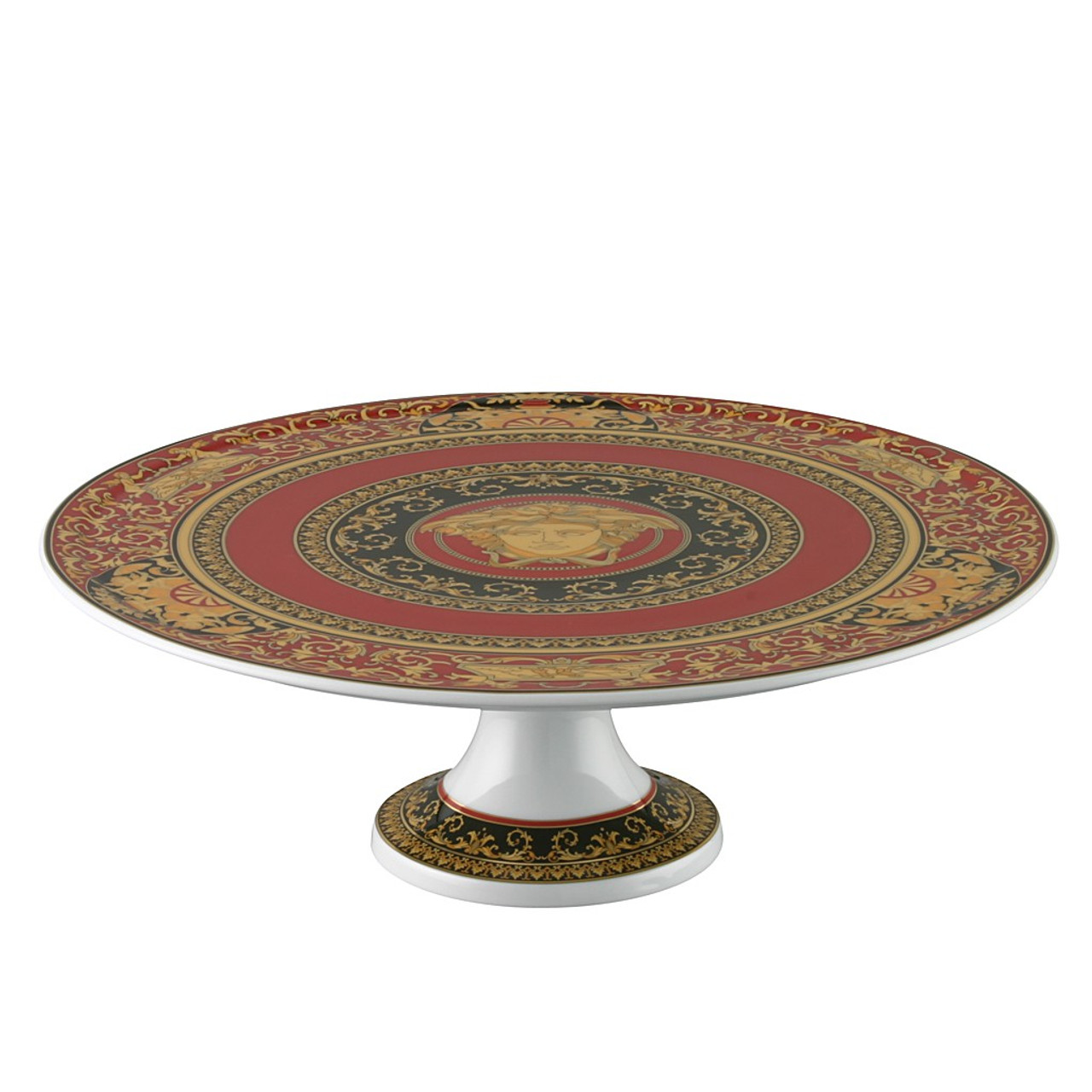 Footed Cake Plate Porcelain 13 inch | Versace Medusa Red  sc 1 st  Rosenthal & Footed Cake Plate Porcelain 13 inch | Medusa Red| Rosenthal Shop