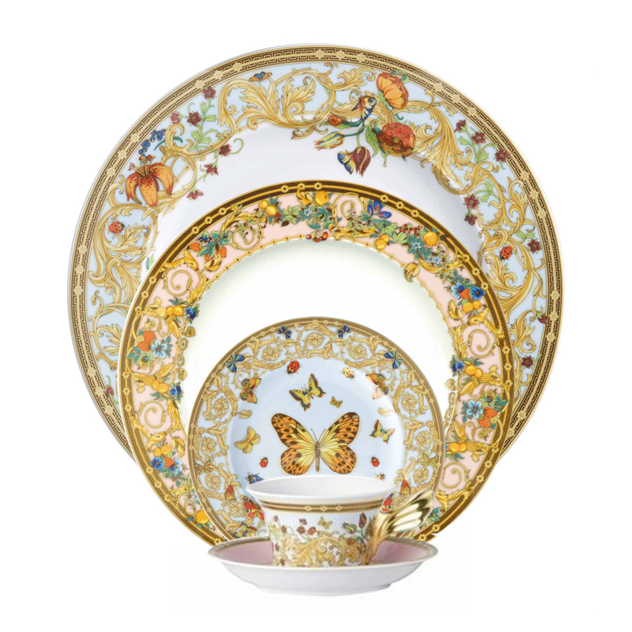 5 Piece Place Setting (5 Pps)   Butterfly Garden