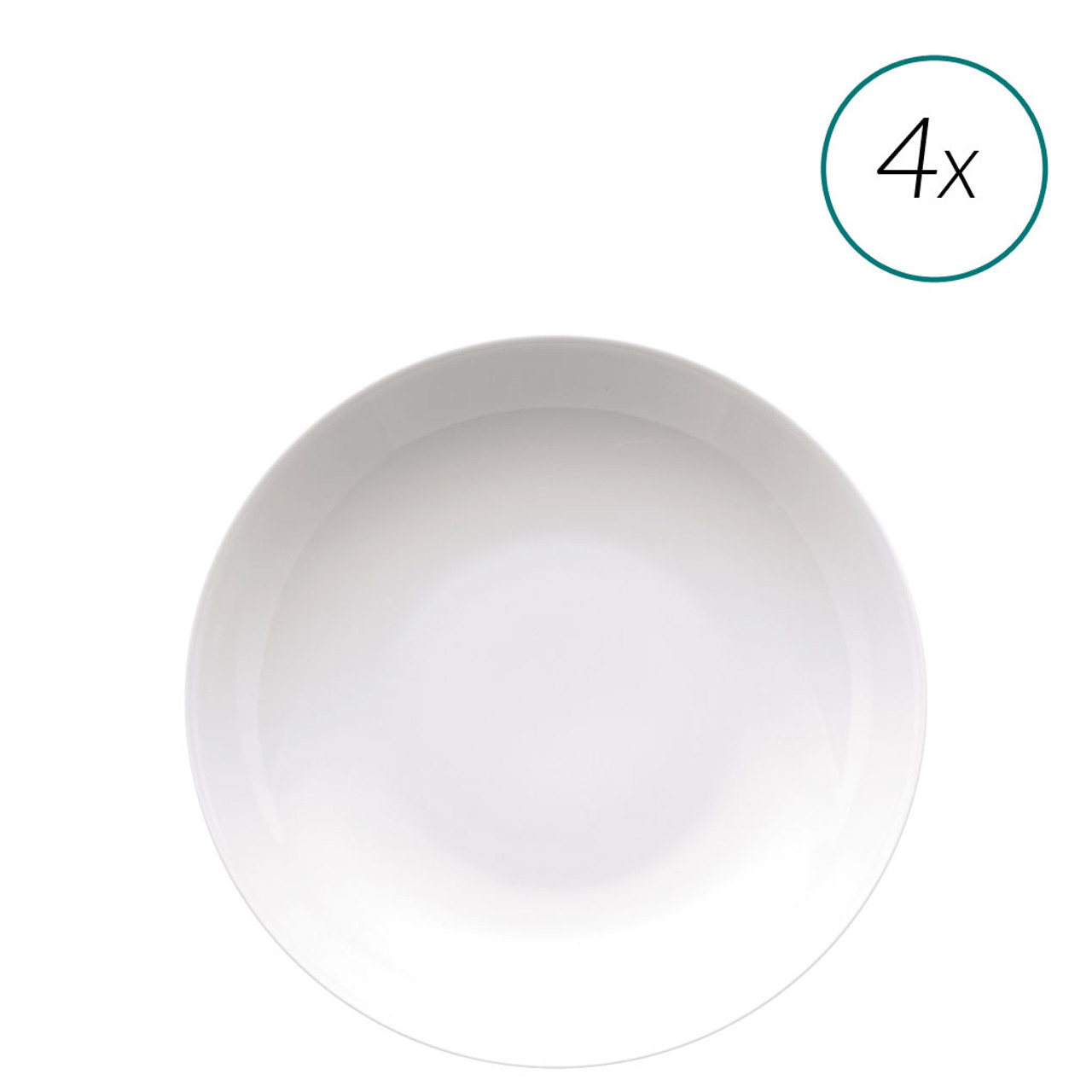 Soup Plates Set 4 pieces 9 inch | Medaillon White  sc 1 st  Rosenthal & Soup Plates Set 4 pieces 9 inch | Medaillon White | Rosenthal Shop