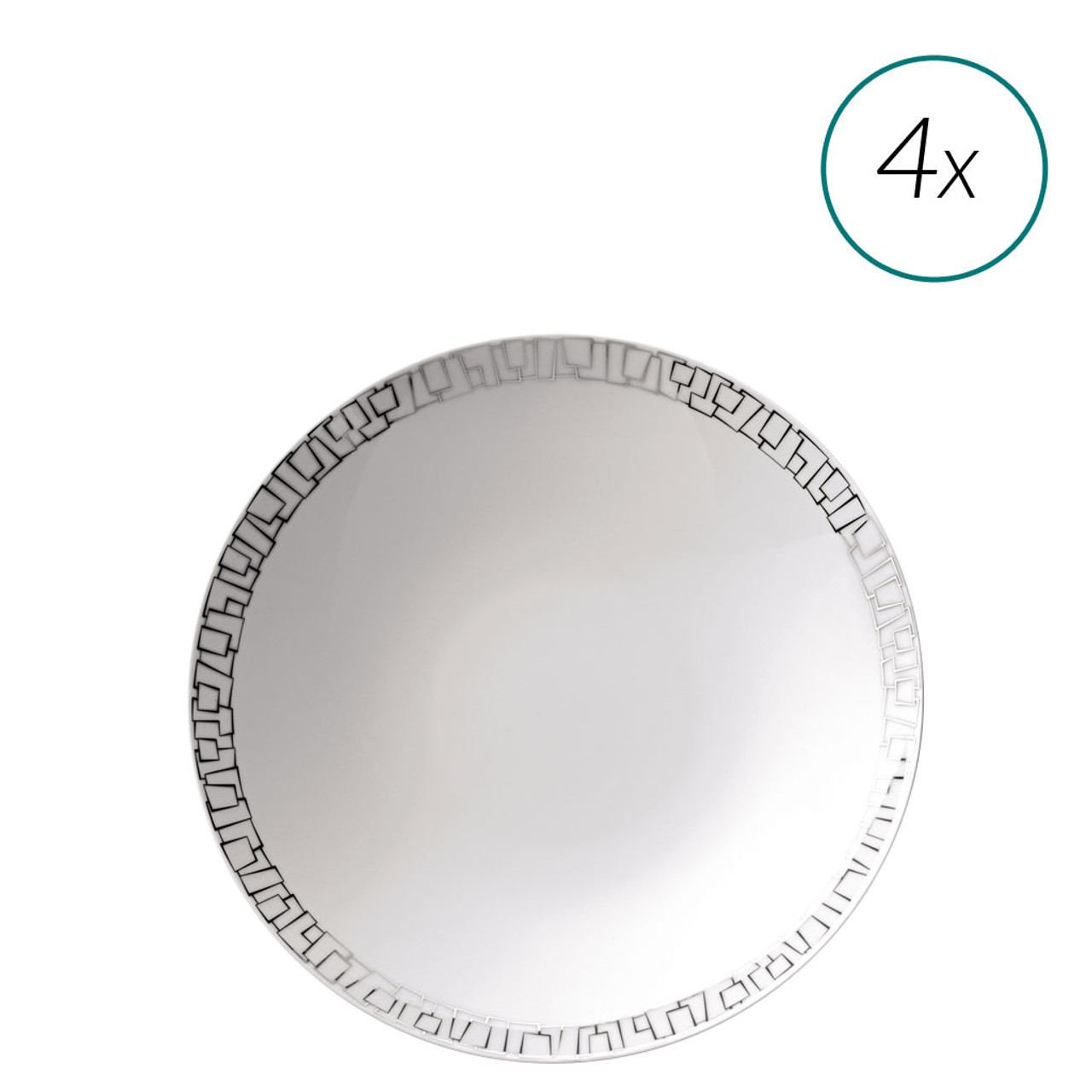 Soup Plates Set 4 pieces 9 1/2 inch | TAC 02 Skin  sc 1 st  Rosenthal & Soup Plates Set 4 pieces 9 1/2 inch | TAC 02 Skin Platinum ...