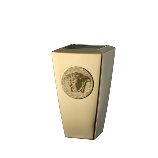 Vase, Porcelain, 9 1/2 inch   Medusa Gold