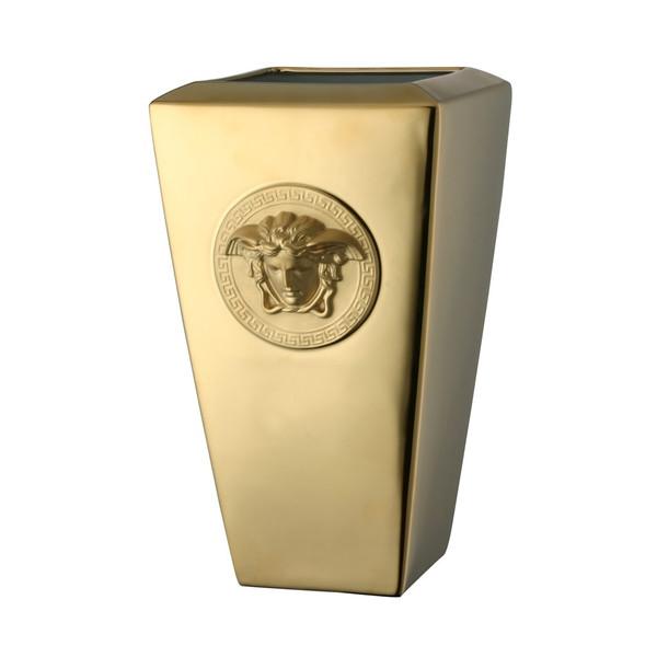 Vase, Porcelain, 12 1/2 inch   Medusa Gold