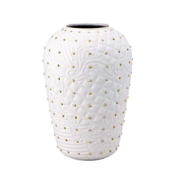 White Gold Vase 12 14 Inch Vanitas White Rosenthal Shop