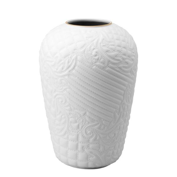 White-goldrim Vase, 12 1/4 inch | Vanitas White