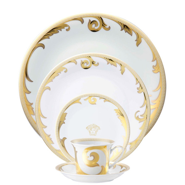 5 Piece Place Setting (5 pps) | Arabesque Gold  sc 1 st  Rosenthal & Formal \u0026 Elegant Dinnerware | Rosenthal Shop