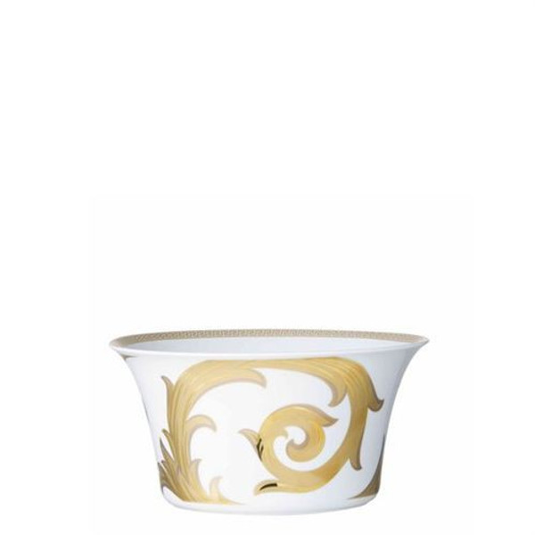 Open Vegetable, 8 inch, 56 ounce | Versace Arabesque Gold