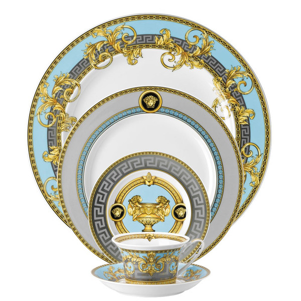 5 piece Dinnerware Set | Prestige Gala Bleu  sc 1 st  Rosenthal : luxury china dinnerware - pezcame.com