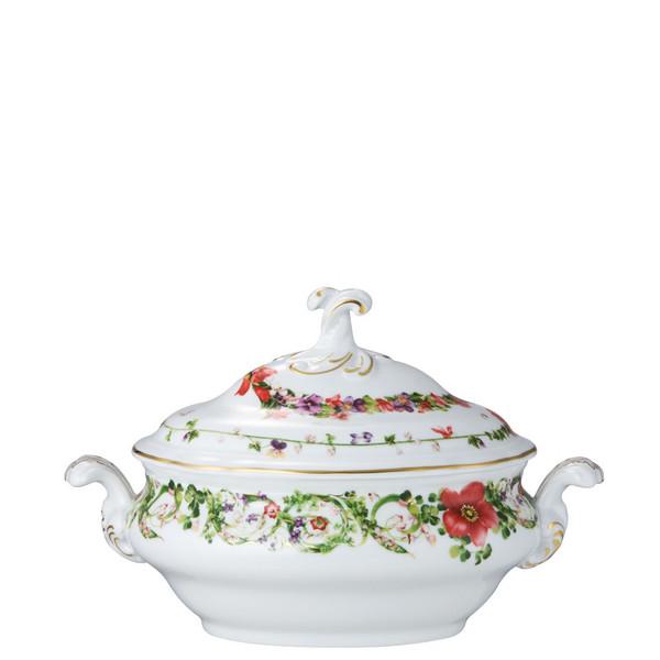 Vegetable Bowl, Covered, 50 ounce | Flower Fantasy