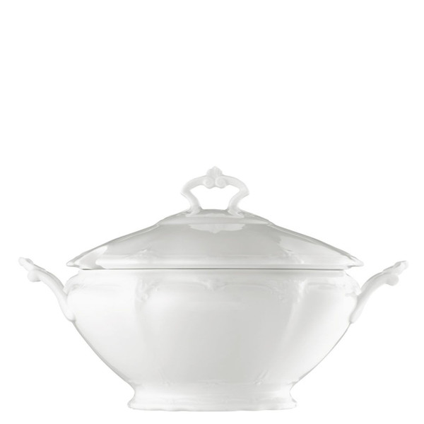 Soup Tureen, 116 ounce | Baronesse White