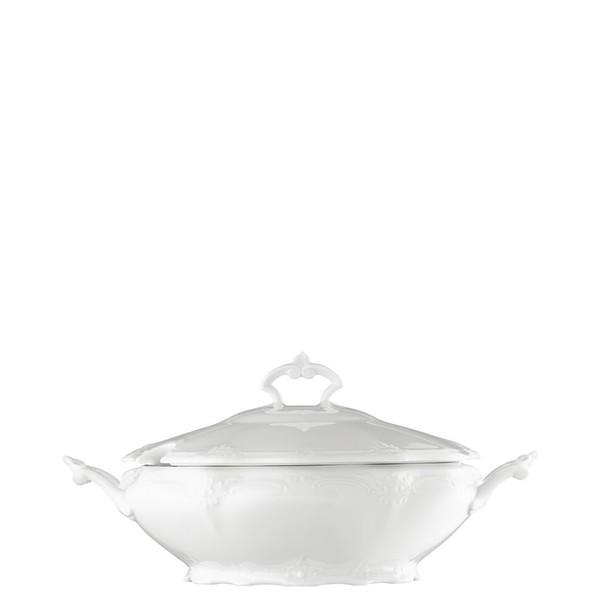 Vegetable Bowl, Covered, 50 ounce | Baronesse White
