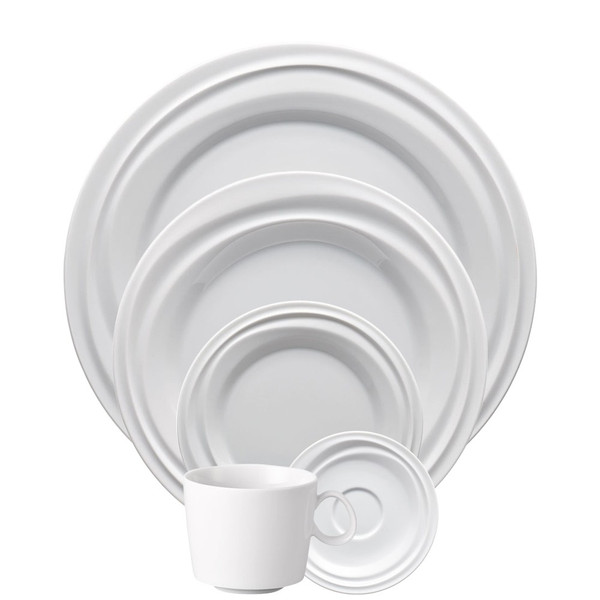 5 Piece Place Setting (5 pps) | Nendoo White