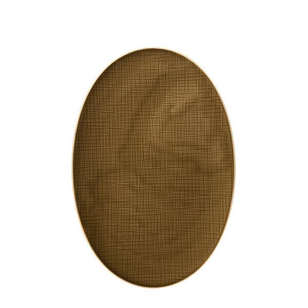 Platter flat oval, 15 inch | Rosenthal Mesh Walnut
