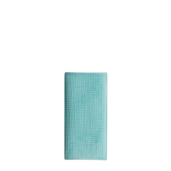 Platter flat rectangular, 10 1/4 x 5 inch | Mesh Aqua