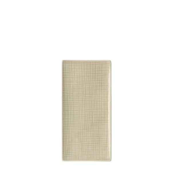 Platter flat rectangular, 10 1/4 x 5 inch | Mesh Cream