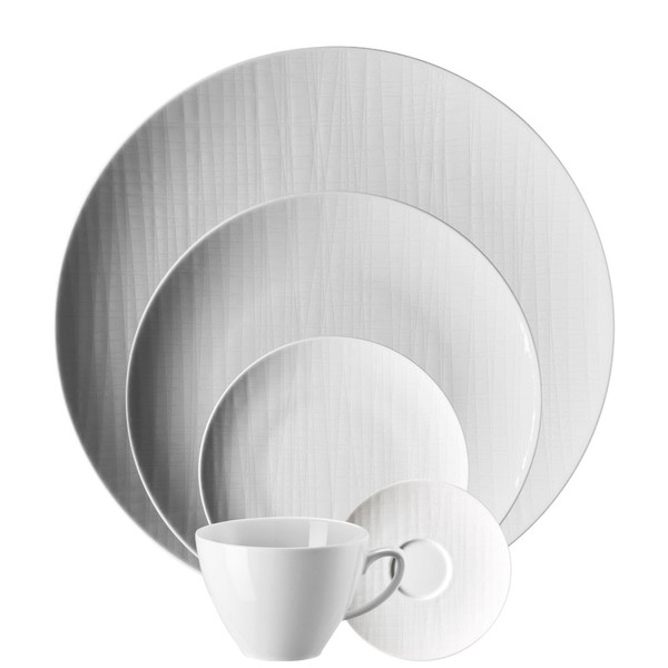 5 Piece Place Setting (5 pps)   Mesh White  sc 1 st  Rosenthal & Casual \u0026 Simple Dinnerware   Rosenthal Shop