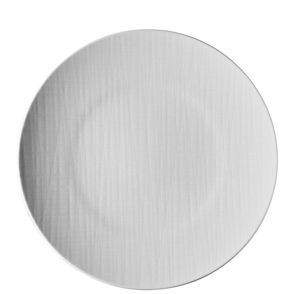 Plate flat round, 13 inch | Mesh White