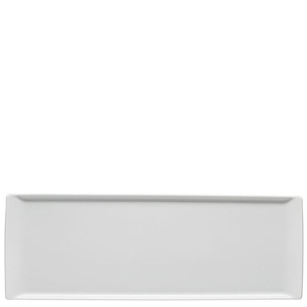 Plate flat rectangular, 16 1/8 x 6 inch | Mesh White