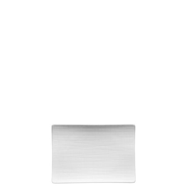 Platter flat rectangular, 7 x 5 1/2 inch | Mesh White