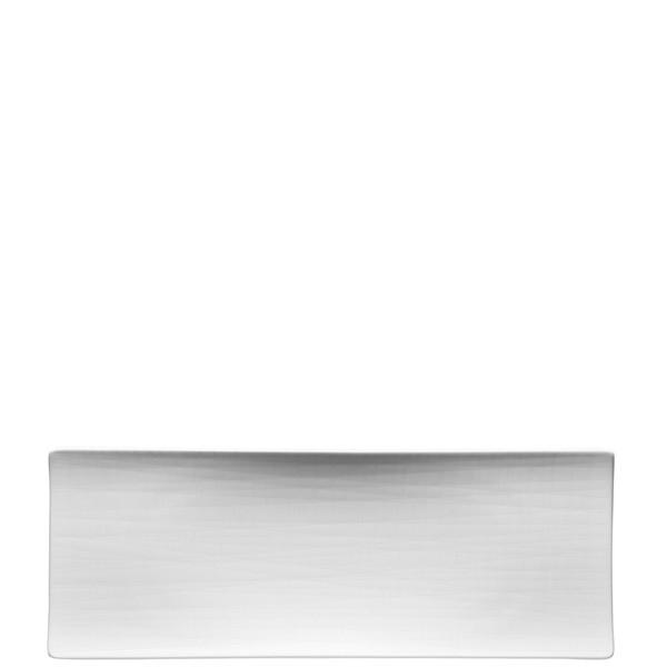 Platter flat rectangular, 13 1/2 inch | Mesh White