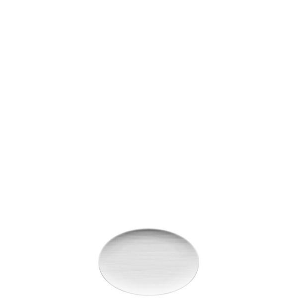 Platter flat oval, 7 inch   Mesh White